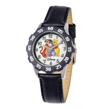 jcpenney.com | Disney Winnie the Pooh & Friends Kids Time Teacher Leather Strap Watch