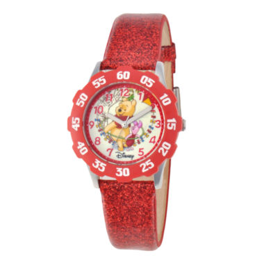 jcpenney.com | Disney Winnie the Pooh Kids Time Teacher Glitter Watch