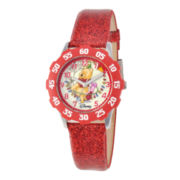 Disney Winnie the Pooh Kids Time Teacher Glitter Watch