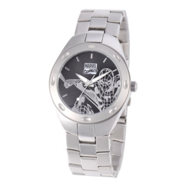 jcpenney.com | Marvel Spiderman Mens Black & Silver-Tone Watch