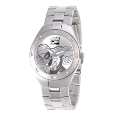 jcpenney.com | Marvel Fortaleza Spider-Man Mens Silver-Tone Watch