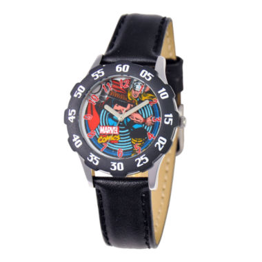 jcpenney.com | Marvel Thor Kids Time Teacher Black Leather Strap Watch
