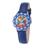 Marvel Thor Kids Time Teacher Blue Leather Strap Watch