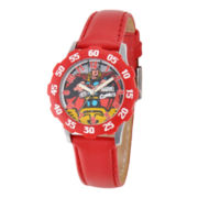 Marvel Thor Kids Time Teacher Red Leather Strap Watch