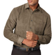 Van Heusen® Suede-Feel Button-Front Shirt