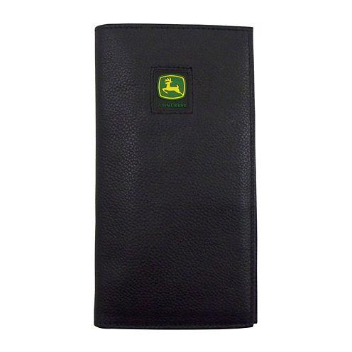 John Deere® Leather Checkbook Wallet