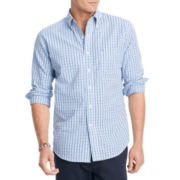 IZOD® Slim-Fit Tattersall Woven Shirt