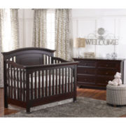 Muniré Furniture Medford Convertible Crib - Espresso
