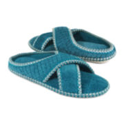 MUK LUKS® Ada Micro Chenille Crisscross Slippers