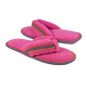 MUK LUKS® Darlene Micro Chenille Thong Slippers