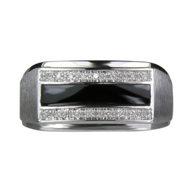 jcpenney.com | LIMITED QUANTITIES Mens Black Onyx & Diamond-Accent Ring