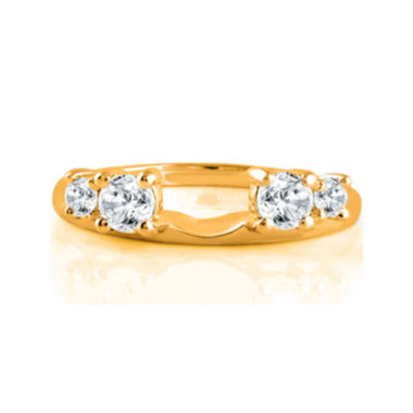 jcpenney.com | 1/2 CT. T.W. Diamond 14K Yellow Gold Ring Enhancer