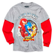 Sonic Boom Long-Sleeve Doubler Tee - Boys 6-18