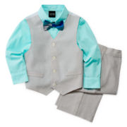 4-pc. Mini Stripe Vest Set—Boys 2t-5t