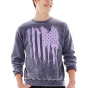 Flag Drip Graphic Fleece Sweatshirt
