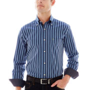TailorByrd Long-Sleeve Striped Woven Shirt
