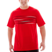 The Foundry Supply Co.™ Chest-Striped Athletic Tee–Big & Tall