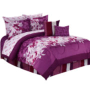 Cathay Home Gloriosa Floral 10-pc. Reversible Comforter Set with Sheets