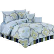 Cathay Home Lacey Medallion 10-pc. Reversible Comforter Set with Sheets