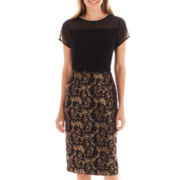 Worthington® Rhinestone-Neck Top or High-Waist Pencil Skirt