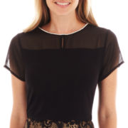 Worthington® Short-Sleeve Rhinestone-Neck Top
