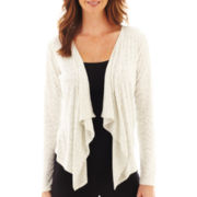 Liz Claiborne® Long-Sleeve Animal Print Cardigan Sweater - Tall