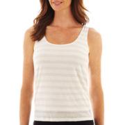 Liz Claiborne® Lurex®-Striped Tank Top