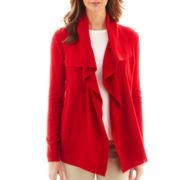 Liz Claiborne® Long-Sleeve Thermal Cardigan Sweater