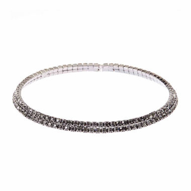jcpenney.com | Natasha Accessories Womens Gray Crystal Choker Necklace