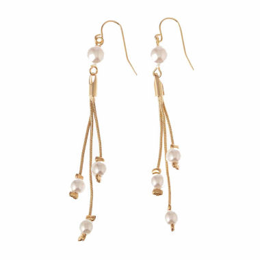 jcpenney.com | Natasha Accessories White Drop Earrings