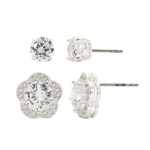 Sparkle Allure Cubic Zirconia Stud Earrings