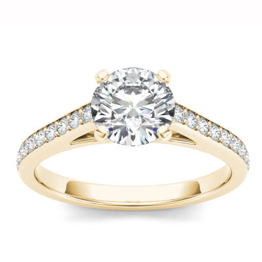 jcpenney.com | Womens 1 CT. T.W. Round White Diamond 14K Gold Engagement Ring