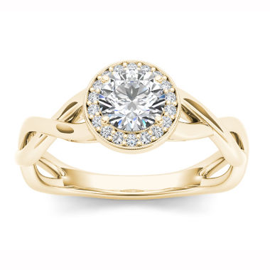 jcpenney.com | Womens 1/2 CT. T.W. Round White Diamond 14K Gold Engagement Ring