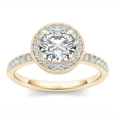 Womens 1 1/2 CT. T.W. Round White Diamond 14K Gold Engagement Ring