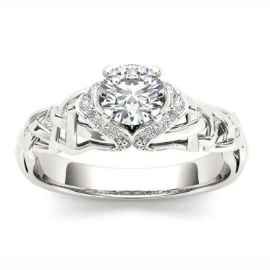 jcpenney.com | 1/2 CT. T.W. Round White Diamond 14K Gold Engagement Ring