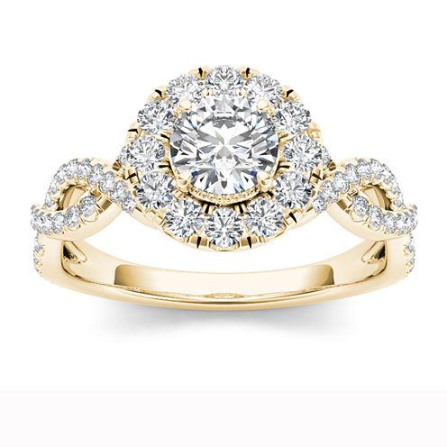 Womens 1 1/4 CT. T.W. Round White Diamond 14K Gold