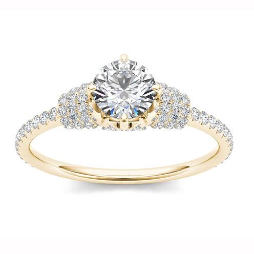 Womens 1 CT. T.W. Round White Diamond 14K Gold