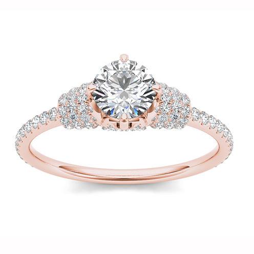 Womens Round White Diamond