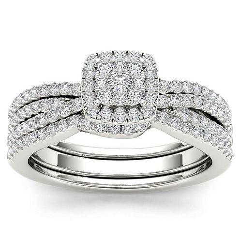 3/4 CT. T.W. White Diamond 10K Gold Bridal Set