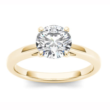 jcpenney.com | Womens 1 CT. T.W. Round White Diamond 14K Gold Solitaire Ring