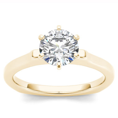 jcpenney.com | 1 CT. T.W. Round White Diamond 14K Gold Solitaire Ring