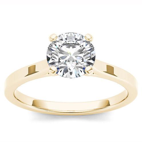 1 CT. T.W. Round White Diamond 14K Gold Solitaire Ring