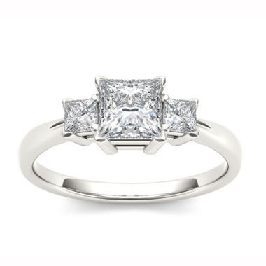 jcpenney.com |  1 1/4 CT. T.W. Princess White Diamond 14K Gold 3-Stone Ring