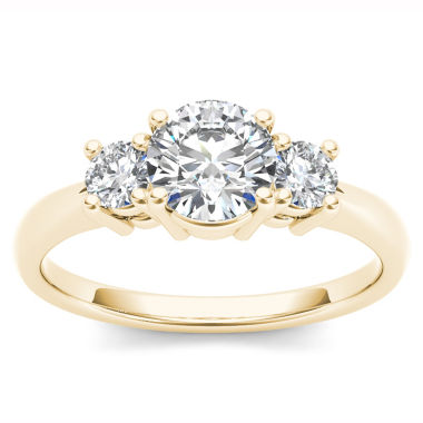 jcpenney.com | 1 1/2 CT. T.W. Round White Diamond 14K Gold 3-Stone Ring