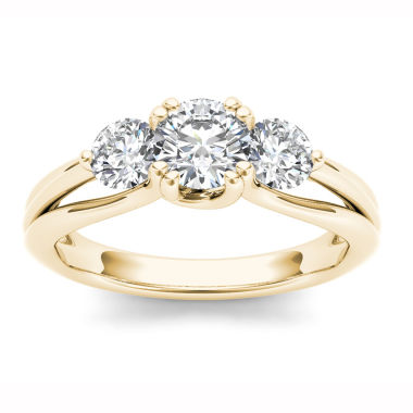 jcpenney.com | Womens 1 CT. T.W. Round White Diamond 14K Gold 3-Stone Ring