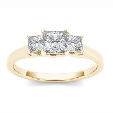 jcpenney.com | Womens 1 CT. T.W. Princess White Diamond 14K Gold 3-Stone Ring