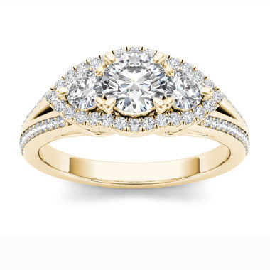jcpenney.com | 1 CT. T.W. Round White Diamond 14K Gold 3-Stone Ring