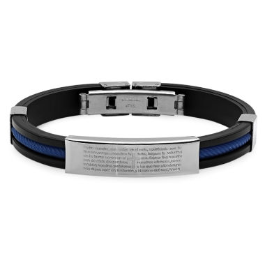 jcpenney.com | Mens Stainless Steel Spanish Lord's Prayer ID Bracelet