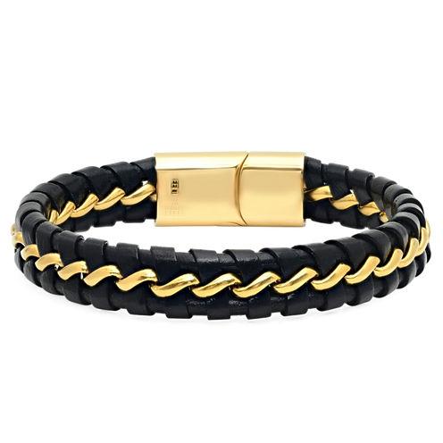 Cubic Zirconia 18K Stainless Steel Wrap Bracelet