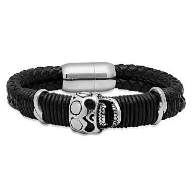 jcpenney.com | Mens Stainless Steel Wrap Bracelet